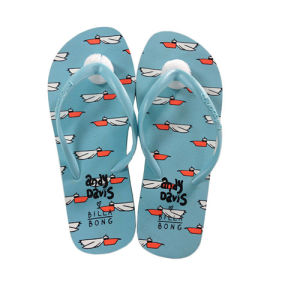 Customized Printing Soft Rubber Flip Flops pictures & photos