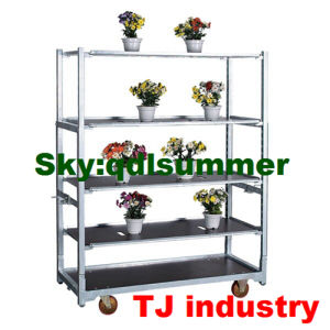 Metal Plate Plant Nursery Cart for Transporting Flower Pots pictures & photos