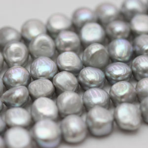10-11mm Gray Baroque Nugget Biwa Freshwater Pearls Strands (E190018) pictures & photos