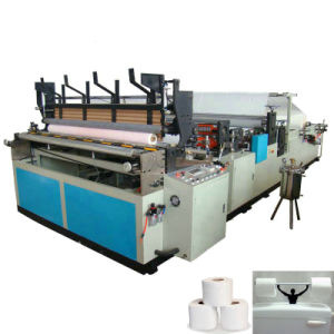Automatic Perforating and Rewinding Machine to Make Toilet Paper pictures & photos
