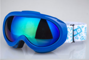 Blue Coated Racing Skiing Sports Eye Protective Goggles pictures & photos