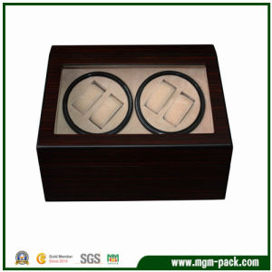 Lacquered with Window Wooden Rotating Automatic Watch Box pictures & photos