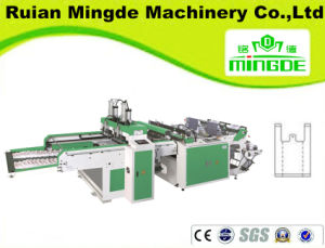 Full Automatic High Speed T-Shirt Bag Making Machine (MD-DFR-450X2C) pictures & photos