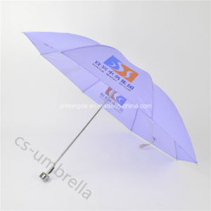 Cheap Light Purple Polyester Cover 4 Fold Umbrella (YS4F0004) pictures & photos