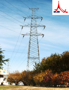 Round Galvanized Steel Pole Transmission Tower pictures & photos