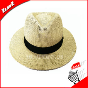 Fashion Paper Straw Hat Fedora Hat pictures & photos