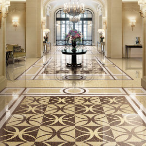 China New Product Lines Shiny Pink Marble Porcelain Tile Floor pictures & photos