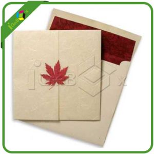 Blank Gift Card and Envelope with Maple Closure pictures & photos