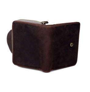 Retro Style Real Leather Zipper Wallet with Cion Holder pictures & photos