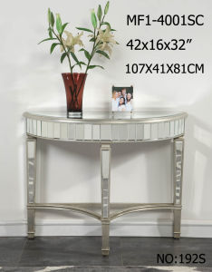 Half Moon Shape Customized Side Table with Clear Mirror pictures & photos