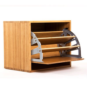 Bamboo Shoes Cabinet Rack Shelf pictures & photos