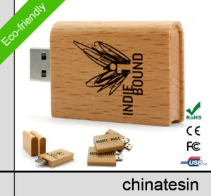 Wooden Book USB Flash Drive 014