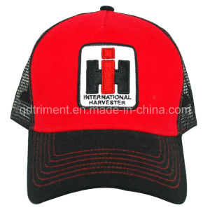 5-Panel Constructed Embroidery Golf Mesh Trucker Cap (TRT016) pictures & photos