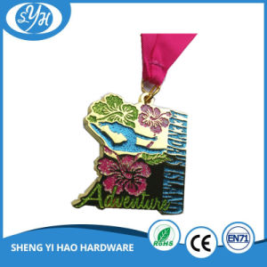 2017 Wholesale High Quality Custom Glitter Sports Medal with Ribbon pictures & photos