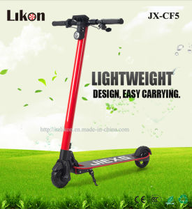 Newest Carbon Fiber Electric Scooter (JX-CF5) with Ce, MSDS Certificates, 22km/H, 25km Max Driving, Green Way to Enjoy Your Low-Carbon Life!