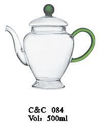 China New Style High Borosilicate Heat Fire Resistant Glass Teapot, Herbal Teapot, Transparent Filter Heating Pot