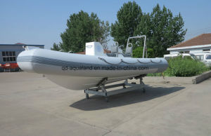 Aqualand 16feet 4.8m Rib Motor Boat/Rigid Inflatable Diving Boat/Fishing Boat (RIB480T) pictures & photos
