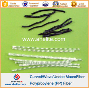 Curved Undee Wave Polypropylene PP Fiber White Black Color pictures & photos