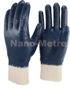 Nmsafety Blue Nitrile Full Coated Heavy Duty Work Gloves pictures & photos
