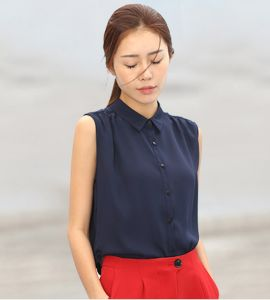 Women Fashion Clothing Polo Shirt Sleeveless Blouse pictures & photos
