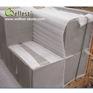 Grey White Sandstone Honed Finish Floor Paving Wall Tile pictures & photos
