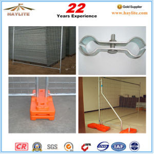 Australia Standard Galvanized Temp Fence with Plastic Feet pictures & photos