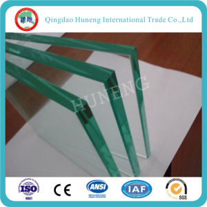 Laminated Glass with a Layer of Transparent PVB Inside It pictures & photos