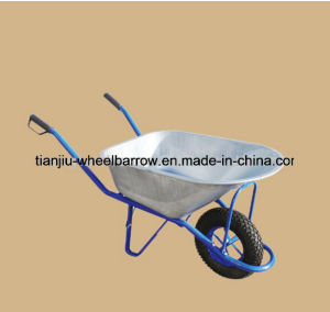 Farm Tools Heavy Duty Construction Galvanized Wheelbarrow Wb6413 pictures & photos
