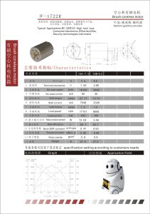 Brush Coreless DC Motor for Smart Robot (1722R) pictures & photos