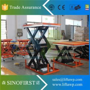 1ton Hydraulic Scissor Lift Cargo Table pictures & photos
