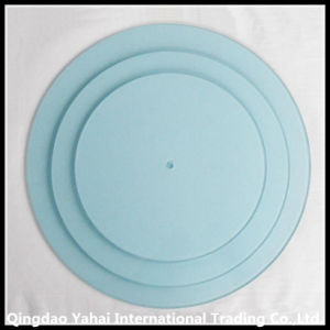 Blue Colored Tempered Glass Plate for Display pictures & photos