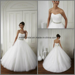 Strapless Wedding Ball Gowns Sash Beads Bridal Dresses Z3004 pictures & photos