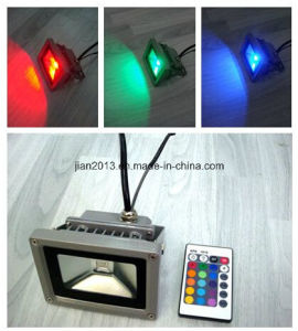 10W IP65 RGB Remote Controller LED Floodlight pictures & photos