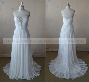 Sweetheart Beading Split Chiffon Long Evening Dress Bridesmaid Dress Party Dress