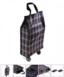 Foldable Shopping Trolley Rolling Tote Bag pictures & photos