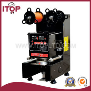 Black Color Automatic Cup Sealing Machine (WD-95A) pictures & photos