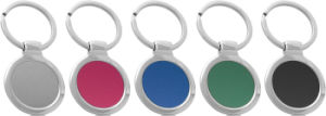 Promotional Competitive Color Metal Round Keyring with Engrave Logo (F1069) pictures & photos