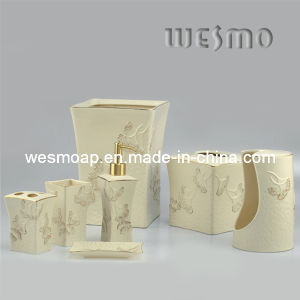 Ginkgo Leaves Porcelain Bathroom Accessory (WBC0455B) pictures & photos