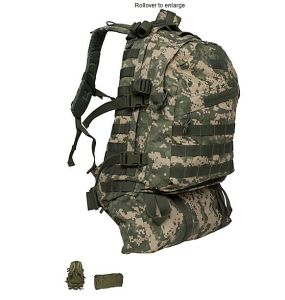 Outdoor Hkining Camo Canvase Military Army Knapsack
