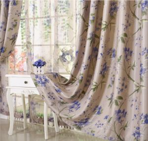 Flax Jacquard Curtain Roman Curtain Environmental Protection The Shading (MM-105) pictures & photos