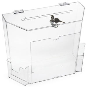 Clear Color Acrylic Coin Donation Containers for Sale pictures & photos