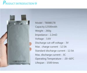 Nmc Li-ion Pouch Cell 12ah 15ah 20ah 30ah 40ah 50ah 60ah Rechargeable Lithium Battery pictures & photos