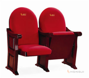 Red Auditorium Chair Wooden Armchair Cover Church Chair (HJ98) pictures & photos