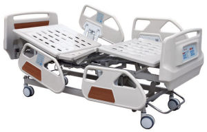 Manual Function ABS/Steel Five Function Medical Bed Hospital Bed pictures & photos