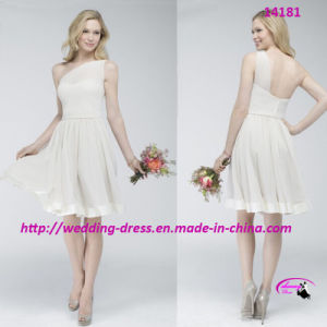 Gorgeous Elaborate Fairytale Bridesmaids Dress with One-Shoulder pictures & photos