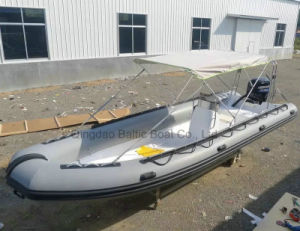 Large Rib Rigid Fiberglass with Inflatable Tube Work Boat 730 Ce pictures & photos