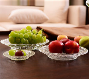 Glass Plate for Storage Fruit Widely Use in Kitchen Furniture pictures & photos