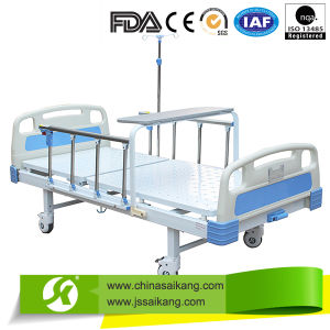 Medical Single Crank Hospital Bed (CE/FDA) pictures & photos