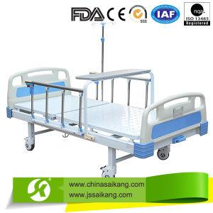 Powder Coated Single Crank Hospital Bed (CE/FDA) pictures & photos
