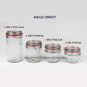 Wholesale Transparent High Quality Airtight Storage Glass Jar (100037) pictures & photos